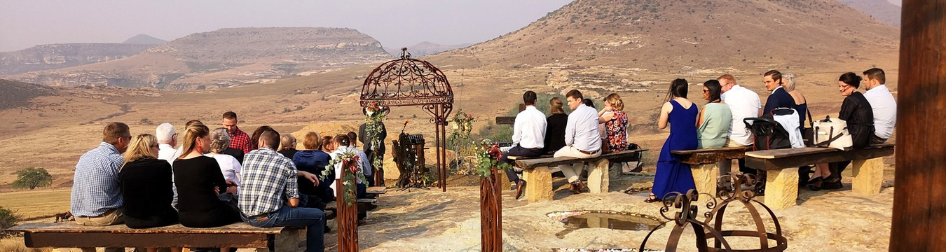 Open air wedding chapel on the mountain