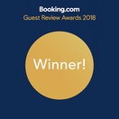 Winner of guest reviews awards from Booking.com